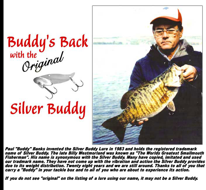 Original Silver Buddy Lures designed by Paul